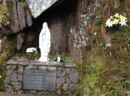 Statue of Mary, at the side of the road in Co Cork, Ireland. You can see these on every corner in rural Ireland.