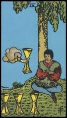 Four of Cups tarot card (Rider-Waite-Smith tarot)