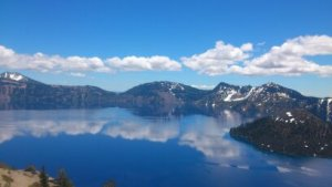 Crater Lake in Oregon. Millions of years ago, a mountain stood here. Then it exploded.