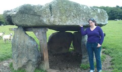 Dolmen on Angelsey. Being held up by SJ.