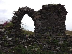 Ruined ancient church on the Beara peninsula