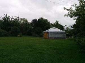 The Yurt of Destiny ;) where we faced our fear and did druidry anyway!