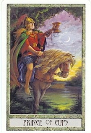 The Druid Craft tarot's Prince of Cups card