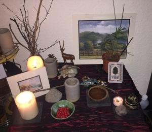 Photo: newly-organised shrine